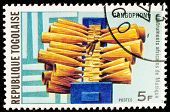 TOGO - CIRCA 1991: A stamp printed by Togo shows Gongophone, circa 1991
