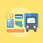 Flat Design Concept Of Payment Methods