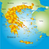 Vector detailed map of Greece country
