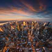 New York City skyline at sunset /NewYork
