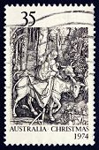 Postage Stamp Australia 1974 Flight Into Egypt, By Albrecht Durer