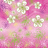 Spring Background. Flowers On The Abstract Background
