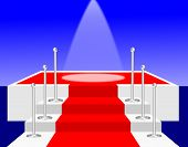 Spotlight On A Red Carpet Stage