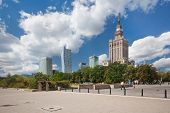 Skyline financial centre of Warsaw, Poland