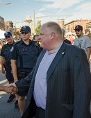 Mayor Of Toronto Rob Ford Visits Salsa On St. Clair