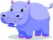 Cute hippopotamus cartoon