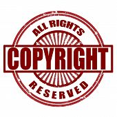 stock photo of plagiarism  - copyright grunge stamp whit on vector illustration - JPG