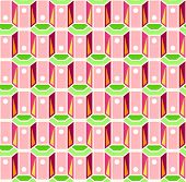 Seamless Background Three Dimensional  Pink And Green Retro Pattern