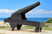 pic of el morro castle  - The cannon at the fortress of El Morro in Cuba - JPG