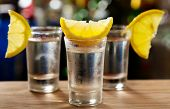 Glass Of Vodka With Lemon