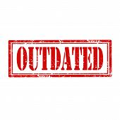 foto of outdated  - Grunge rubber stamp with word Outdated - JPG