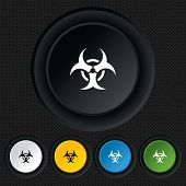 picture of biohazard symbol  - Biohazard sign icon - JPG