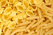 Different macaroni useful as a background