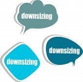 Downsizing. Set Of Stickers