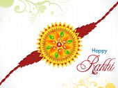 picture of rakhi  - abstract raksha bandhan rakhi background vector illustration - JPG
