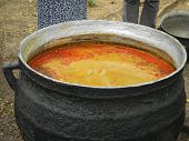 Vat of palm oil