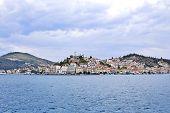 view of Poros island, Greece