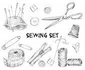 Sewing sketch set