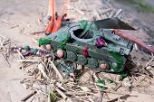 Destroyed Tank And Sodiers