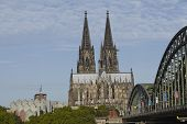 Cologne - Cologne Cathedral And Hohenzollern Bridge