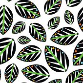 Seamless Vector Geometrical Leaves Background Pattern Design