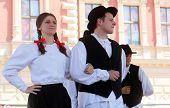 ZAGREB, CROATIA - JULY 20: Members of folk groups St. Jerome from Strigova, Croatia during the 48th