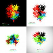 Abstract background color splatter, easy editable