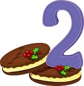 Illustration of the two christmas cookies on a white background