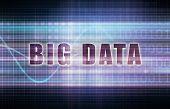 Big Data on a Tech Business Chart Art