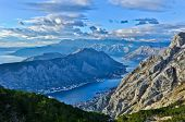 View of Kotor Bay Mountains, Montenegro