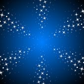 Starry rays background.