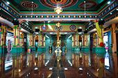 The Main Prayer Hall at Sri Mahamariamman Indian Temple in Kuala Lumpur