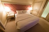 GABALA - MAY 18: Room in Riverside Hotel on May 18, 2014 in Gabala, Azerbaijan. Riverside hotel is f
