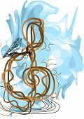 Treble Clef And Bird