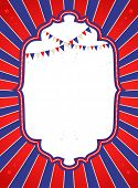 Circus bright poster with copy space. Raster version.