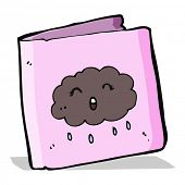 cartoon card with cloud pattern