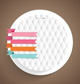 Note papers with ribbons, ready for your message. Vector illustration.
