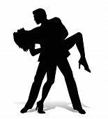 vector dancer tango silhouette
