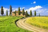 scenic landscapes of Tuscany. Italy