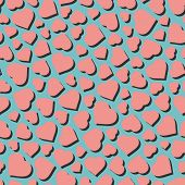 Hearts. Seamless pattern. Vector illustration. Can be used for wallpaper, web page background, web b