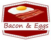 Illustration of bacon and eggs