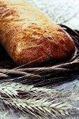 Fresh Baked Bread With Wheat