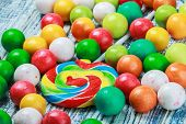 Multicolored Sweets And Chewing Gum