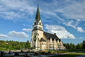 stock photo of laplander  - Church of Vindeln in Lapland - JPG