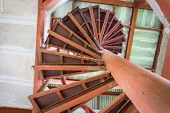 pic of spiral staircase  - Old Spiral staircase - JPG