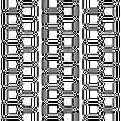 Design Seamless Monochrome Chain Geometric Pattern