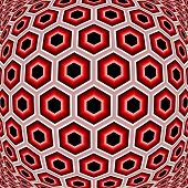 Design Distorted Hexagon Geometric Pattern