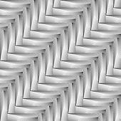 Design Seamless Monochrome Zigzag Geometric Pattern