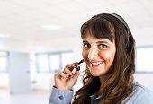 Portrait of a female customer representative at work
