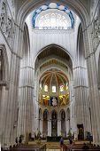 MADRID, SPAIN - MAY 28, 2014: Interior of Cathedral Santa Maria in Madrid